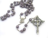 Catholic Rosary Nail Cross Necklace