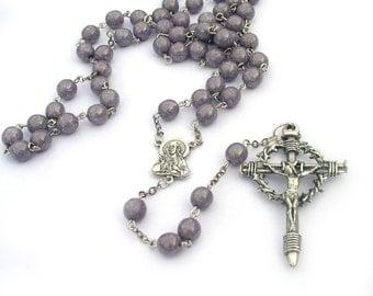 Catholic Rosary Nail Cross Sacred Heart