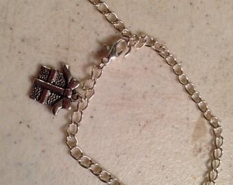 Present Bracelet  - Gift Jewelry - Silver Jewelry - Charm Jewellery - Chain - Birthday - Christmas