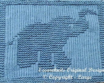 Knitting Cloth Pattern - LITTLE BUTTERBALL - PDF
