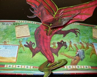 Books, Pop-Up, Dragon World, A Pop-Up Guide to These Scaled Beasts,1st. Childrens Books, Book  s, Book Love r, Juvenile Books, Classic Books