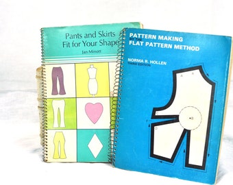 Sewing Patterns Book Set: Dress Patterns 1972 &  Flat Pattern Method Pants and Skirts Fit for Your Shape