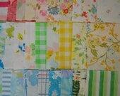 Reserved for MrsBstnLuvr Vintage Reclaimed Fabric Charm Squares --set of 160 (multi)