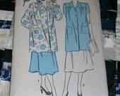 Vintage 1940s Advance Pattern 4325 for Misses Smock, Size Medium 18 - 20