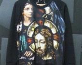 Jesus shirt, Mary mother of god, Jesus christ ,catholic shirt, Crewneck Sweater size M,L women shirt ,men t shirts, long sleeve shirt