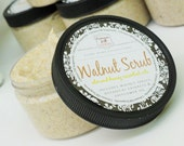 WALNUT BODY SCRUB - 5.5 oz, Almond Honey Scent, handmade scrub, scented, facial, face, feet, bath