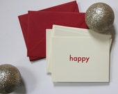 Happy Letterpress Holiday Cards
