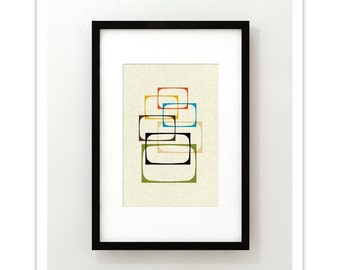 SHOW - Giclee Print - Mid Century Modern Danish Modern Minimalist Cubist Modernist Eames Abstract