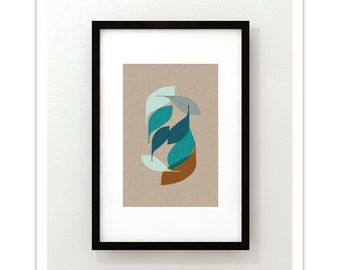 EBB no.12 - Giclee Print - Mid Century Modern Danish Abstract Modern