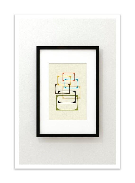 SHOW - Giclee Print - Mid Century Modern Danish Modern Minimalist Cubist Modernist Eames Abstract
