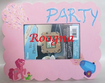 Pinkie Pie PARTY Cannon My Little Pony MLP FiM Wood Photo Frame