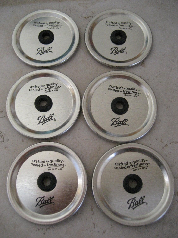 6 mason jar lids diy wide mouth straw lids create your own. Black Bedroom Furniture Sets. Home Design Ideas