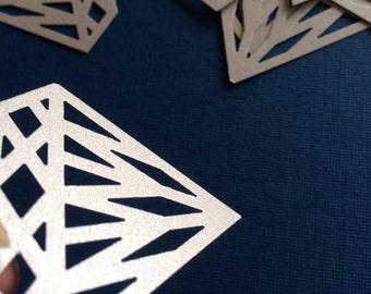 25 Shimmery Silver Diamond Confetti, Wedding Confetti, Wedding Decorations, Shower Decorations, Engagement Decorations, Wedding, Engagement