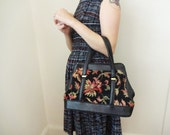 Vintage Embroidered Granny Handbag