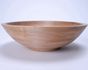 "Southern Maple Wooden Bowl #1232 9 3/8"" X 2 3/4"""