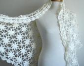 Bridal Shawl, Ivory, Ready to Ship, Mohair , Spring Wedding, Handmade wedding, Unique wedding