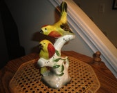 Pair of Pottery Birds