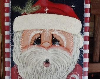 Hand painted Christmas Santa Claus Painting