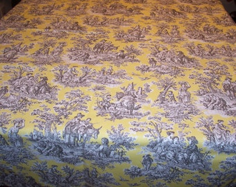 "Custom Tablecloth Waverly Rustic Life Toile 54"" x 84"""