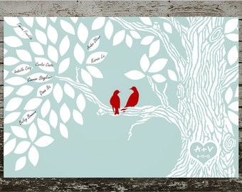Wedding Guestbook Alternative Print--  To Be Personalized With Guest's Signatures - 20x30 -70-100 Signature Guestbook