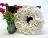 Simple Year Round Plain Handmade Drop Cloth Rag Wreath