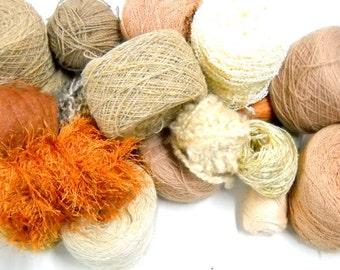 Earth Tone Vintage Yarn, Mystery Box of Yarn, Knitting Supplies, Crochet Supplies, Ybox7/earth