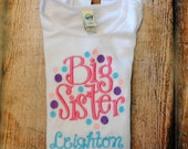 Big Sister Embroidered Personalized Shirt or Bodysuit