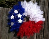 Red, White, and Blue Wreath, Wreath, Patriotic Decor, Patriotic Wreath, Military Decor, 4th of July, Flag Decoe