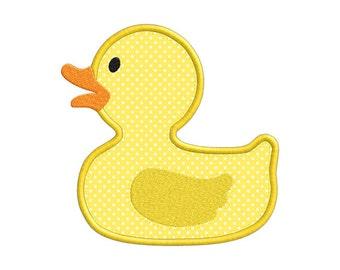 Rubber Ducky Duck Individual APPLIQUE Machine Embroidery Designs
