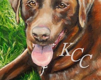 Custom Pet Portrait in Acrylic Paints