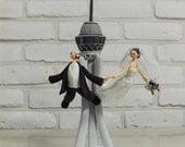 Sky Jumping, Diving custom wedding cake topper Decoration Gift Keepsake - Stratosphere in Lav Vegas