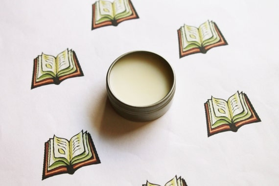 Library Scented Lip Balm - Natural Shea Butter Lip Balm - Cocoa Butter - Beeswax - Lip Balm Tin - Lip Balm Favors - Matte Lipstick
