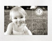 Birthday Party Invitation - Personalized Photo DIY PRINTABLE Digital Design - Madeline