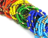 African Nile Necklace & Bracelet - Comes in Red, Orange, Yellow, Green, Blue, Turquoise