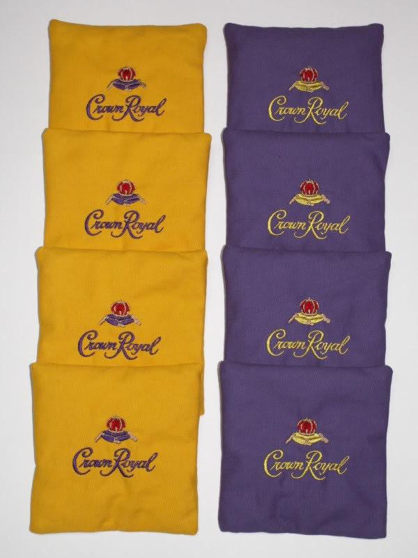 crown royal logo aca regulation bean corn toss bags