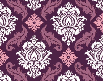 True Colors - Damask in Violet - PWTC009 - JOEL DEWBERRY - Free Spirit Fabric - By the Yard