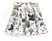 Freak of Nature Print Skater Skirt in White
