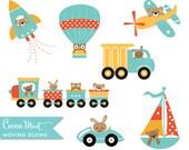 Moving Along Transportation Clip Art