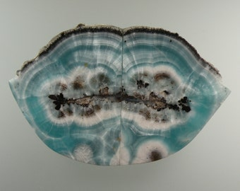 Angel Blue Hemimorphite 100% Natural Hand Cut Cabochon from Arizona, free U.S. shipping