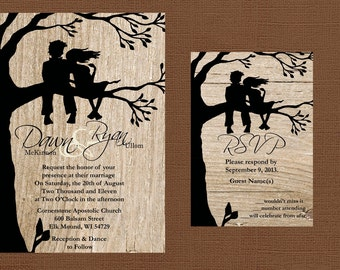 Rustic Wedding Invitation, Best Friends Wedding Invitation, Country Wedding Invitation, Western Wedding Invitation, Wood Wedding Invitation,