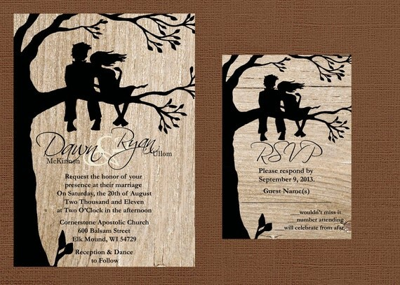 Wedding Invite For Friends: Rustic Wedding Invitation Best Friends Wedding Invitation