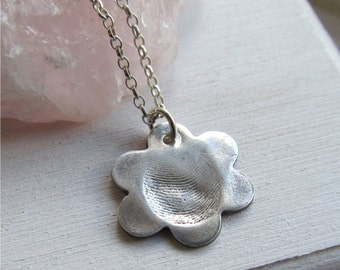Fingerprint Necklace, Fingerprint Jewelry, Thumbprint Necklace