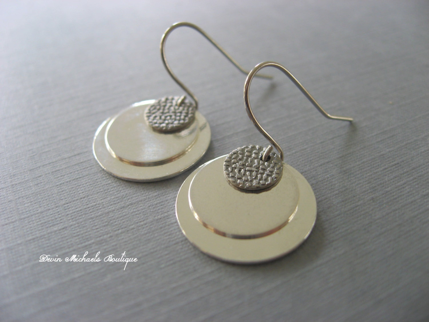 Simple Silver Coin Earrings Silver Dangle by DevinMichaels ...