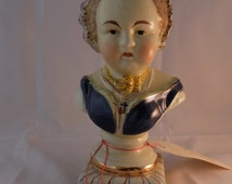 Vintage Antique Porclein French Bust