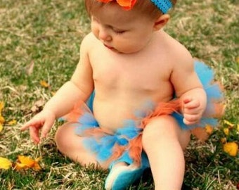 Turquoise and Orange Tutu