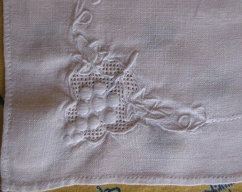 9 Vintage Linen Embroidered Placemats