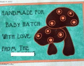 Quilt Label - Forest Friends, Custom Made & Hand Embroidered