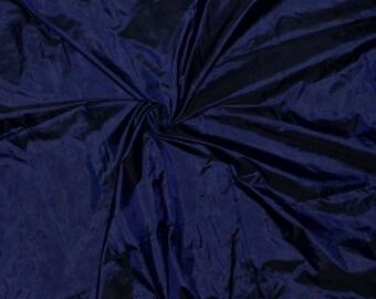 Silk taffeta in Navy Blue - Black, fat quarter -TF 84