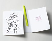 Love Your Ass, Miss Your Face Greeting Card