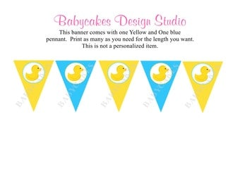 Rubber Ducky Banner - Instant Dowload DIY Print Your Own